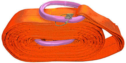Heavy Duty Recovery Straps with Steel Rings