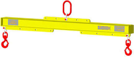 Lift Beam, Low Headroom Adjustable with Top Ring and Shackles, Capacities 2000-80,000 Lbs