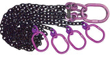 4 leg bridle chain sling - purple