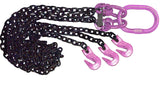 3 leg chain sling - purple hardware