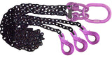 Multi Leg Chain Slings with Purple Hardware