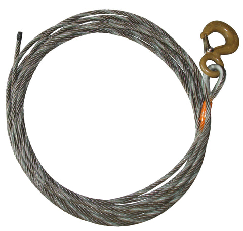 "Steel Core Winch Cable, 5/8"" Diameter, Length 50-80 Feet"