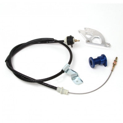 1979-1995 Mustang GT/Cobra V8 5.0L BBK Heavy Duty Adjustable Clutch Cable, Double Hook Quadrant, & Firewall Adjuster Kit