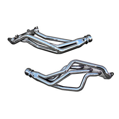 "1979-2004 Mustang V8 5.0L Coyote Swap BBK Chrome 1-3/4"" Long Tube Headers"