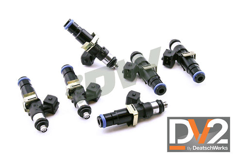 1999-2010 Mustang V6 3.8L/4.0L DeatschWerks DV2 Long 1500cc Injectors - Set of 6