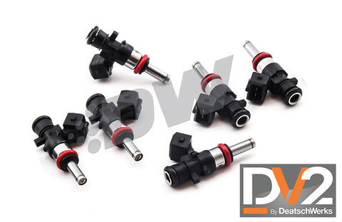 1999-2010 Mustang V6 3.8L/4.0L DeatschWerks DV2 Long 1200cc Injectors - Set of 6