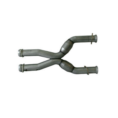 "1979-2004 Mustang V8 5.0L Coyote Swap BBK Matching 3"" Mid X Pipe with Catalytic Converters"