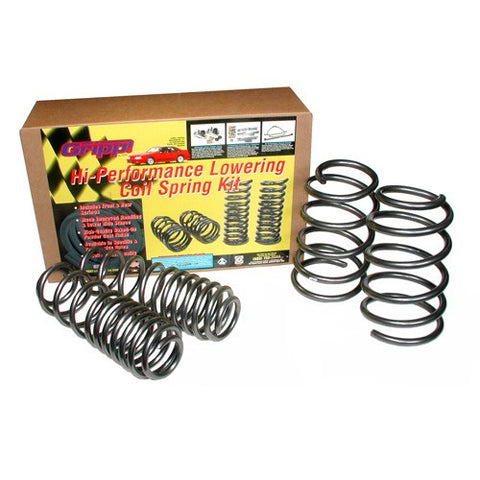 1979-2004 Mustang GT/Cobra V8 5.0L/4.6L BBK Progressive Rate Lowering Spring Kit Exc IRS