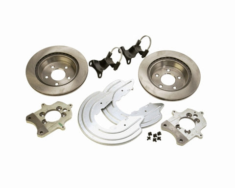 1994-2004 Mustang Cobra, Mach 1, GT V8 4.6L, 5.0L Ford Performance Rear Brake Bracket Upgrade Kit