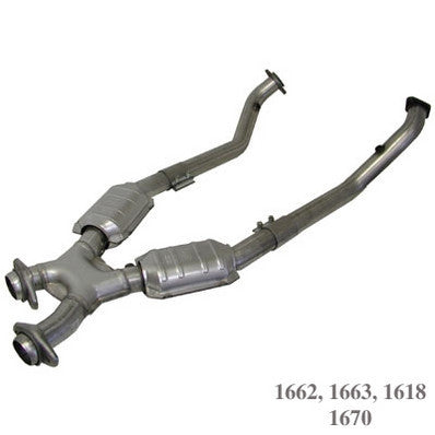 "1996-1998 Mustang Cobra V8 4.6L BBK 2.5"" X-Pipe w/ Catalytic Converters"