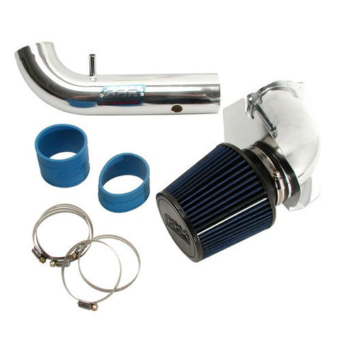1994-1998 Mustang V6 3.8L BBK Fenderwell Chrome Cold Air Intake