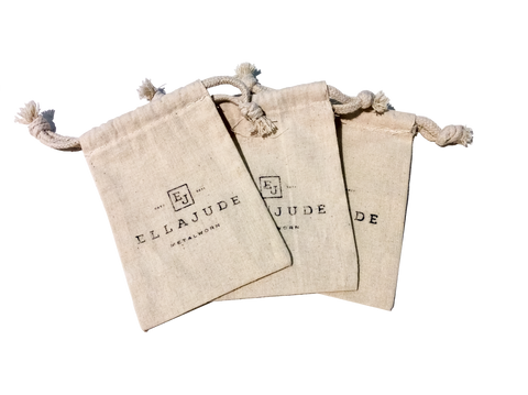 24 Cotton Logo Bags