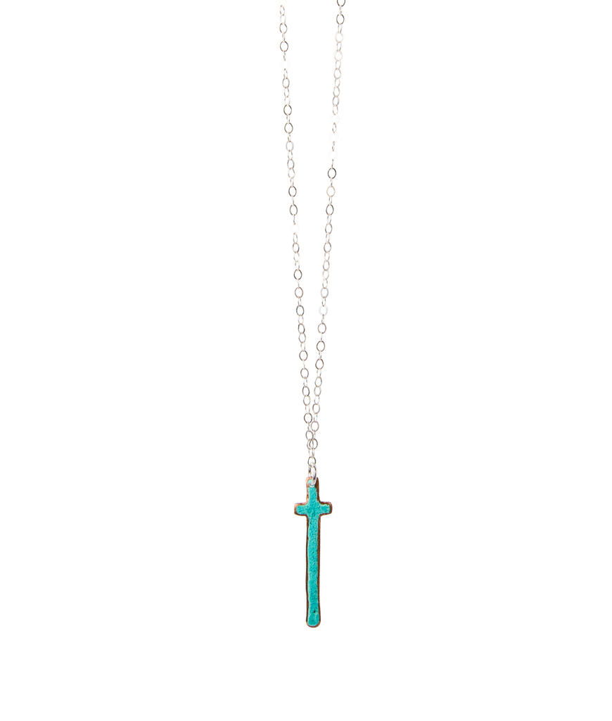 "18"" Vertical Cross Necklace"