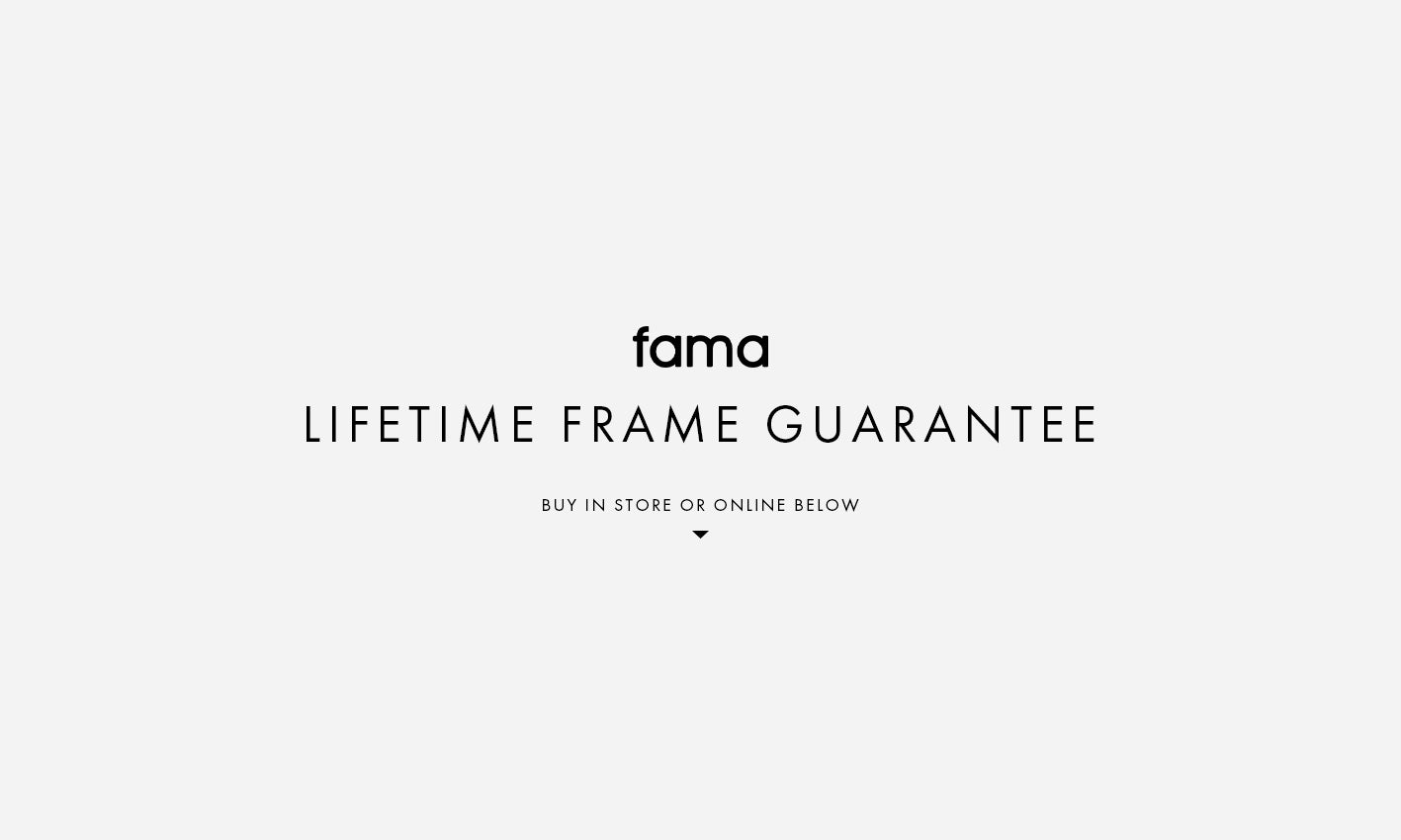 Lifetime Fama Frame Guarantee