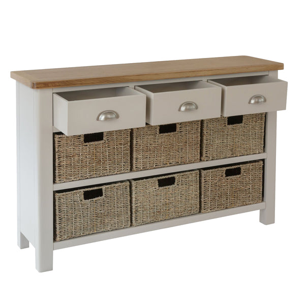 Pershore Painted Sideboard - 3 Drawer 6 Baskets