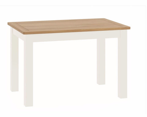 Todenham Oak & White Painted Dining Table - Fixed Top