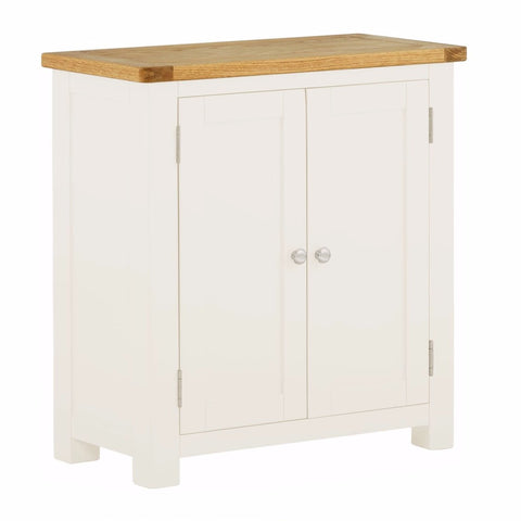 Todenham Oak & White Painted Cupboard - 2 Door