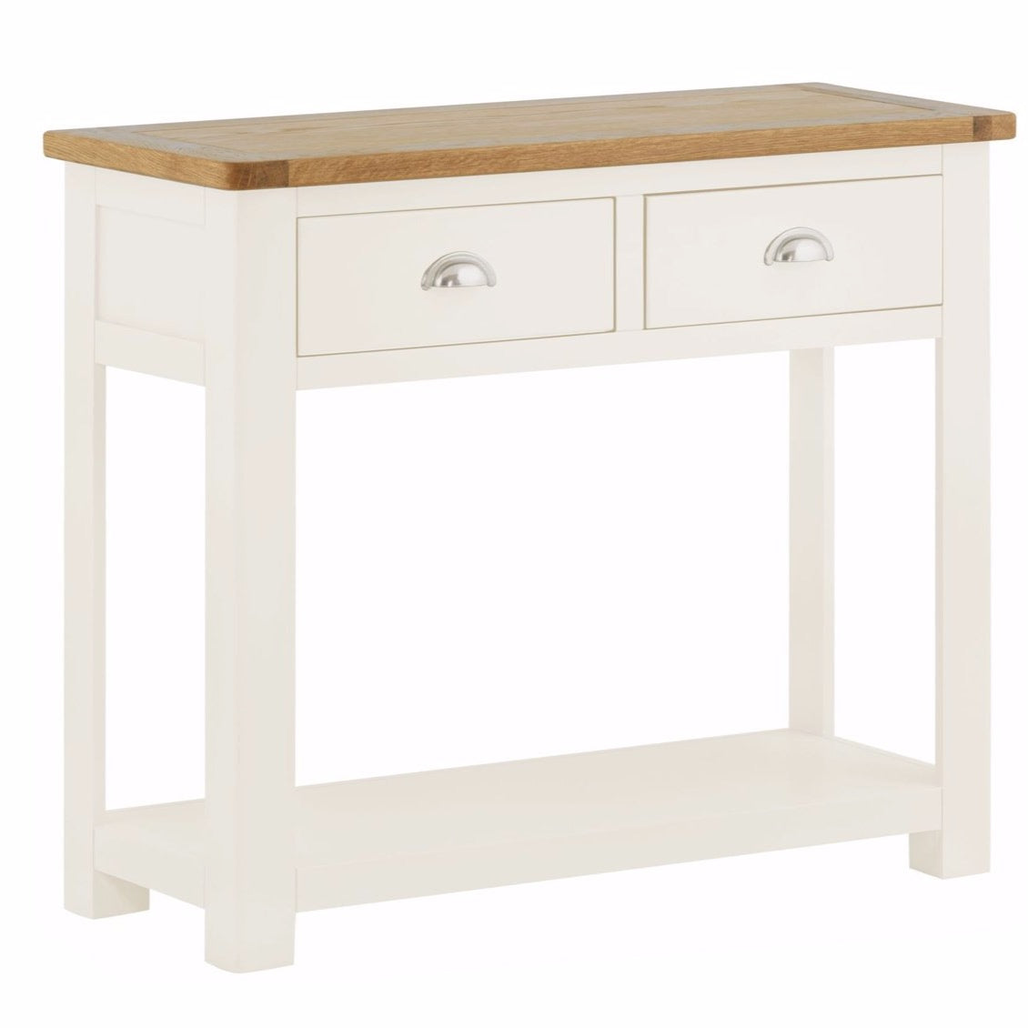Todenham Oak & White Painted Console Table - 2 Drawer