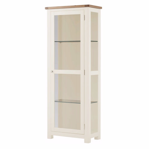 Todenham Oak & White Painted Glazed Display Cabinet