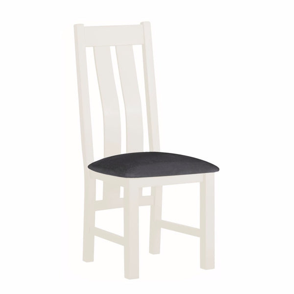 Todenham Oak & White Painted Dining Chair - Padded Seat
