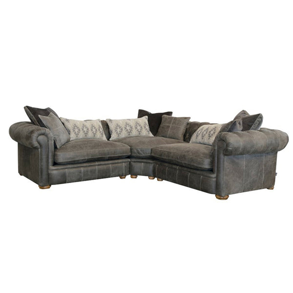 Chamberlain Deluxe - Full Leather: 3 Piece Corner Sofa