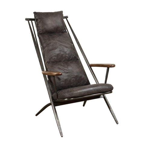 Wyatt Chair - Grey Leather