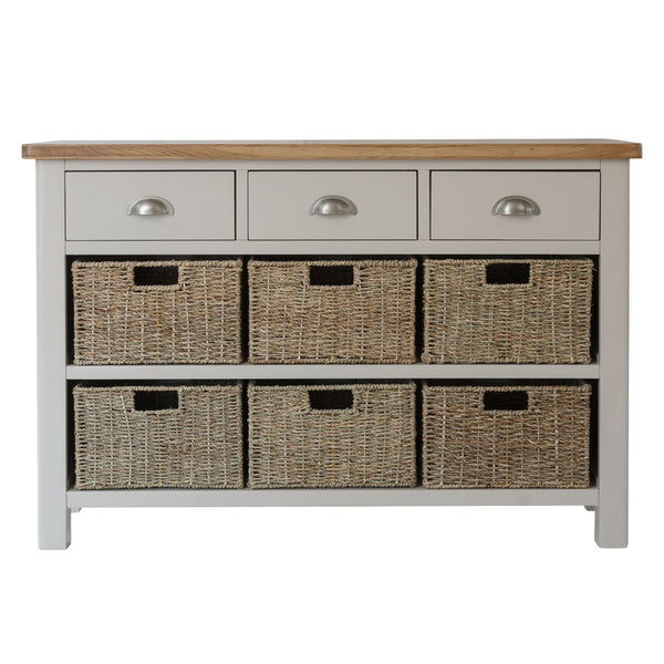 3 Drawer with 6 Storage Baskets - Large Painted Sideboard