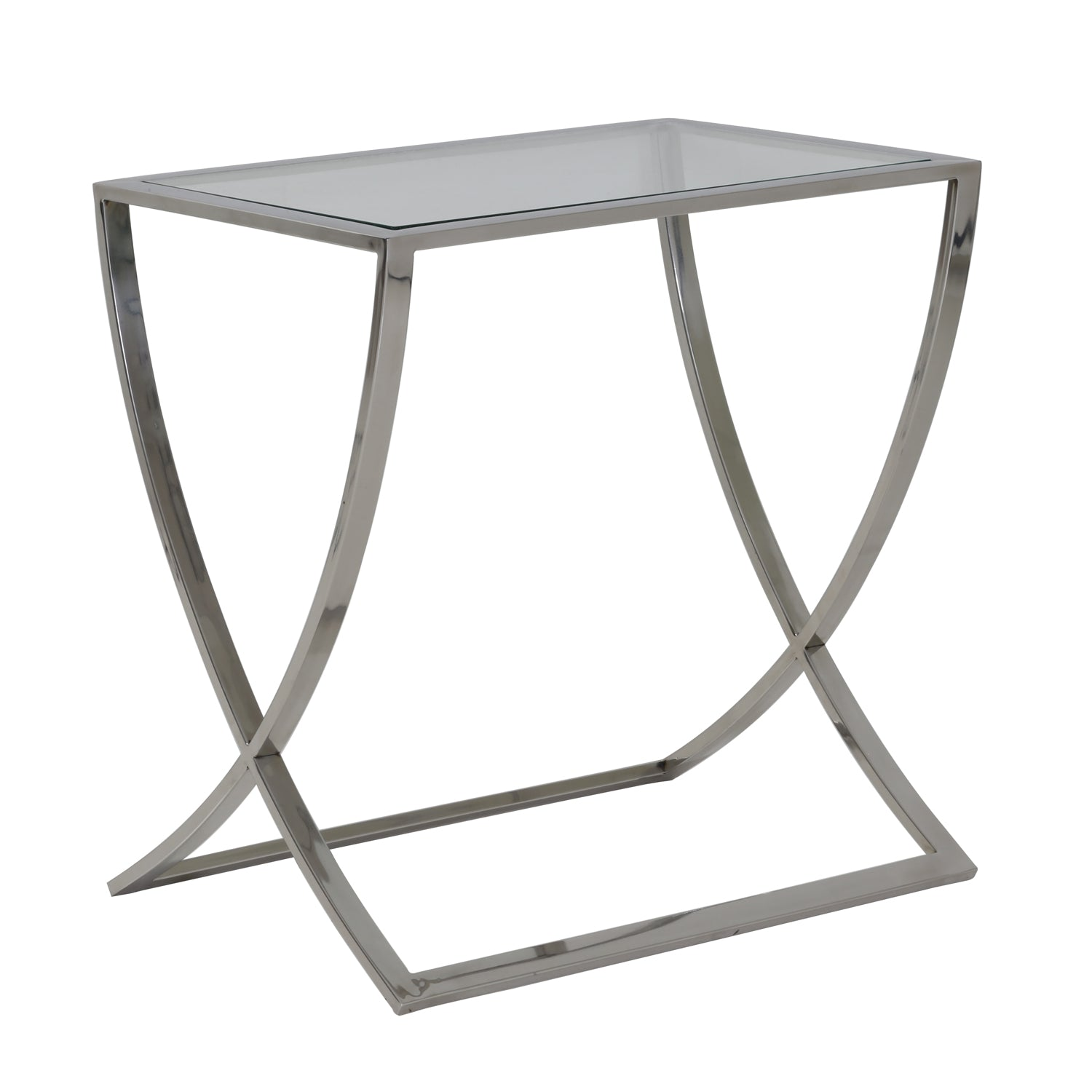 Console Table - Glass/ Nickle