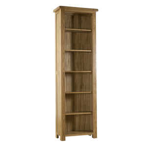 Auvergne Solid Oak Bookcase - Narrow (Large)