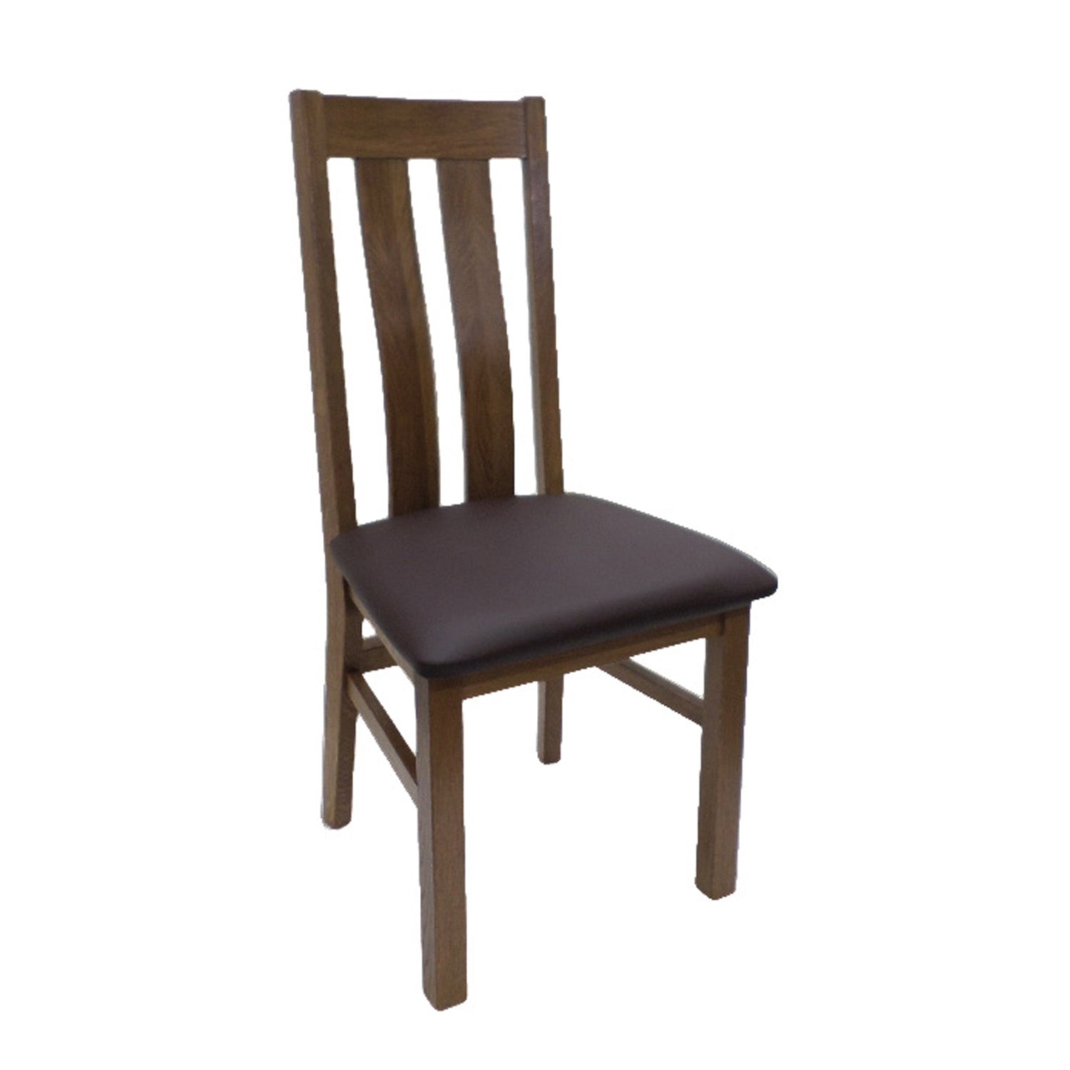 Auvergne Solid Oak Dining Chair - Twin Slat