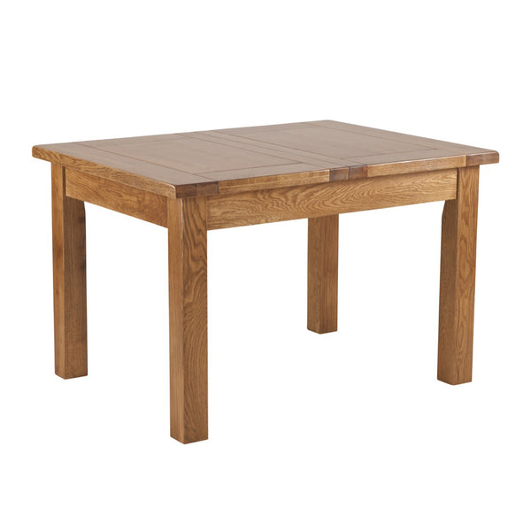 Auvergne Solid Oak Dining Table - 4ft Extending Table (1 Leaf)