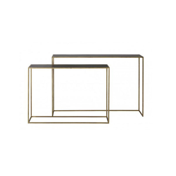 Boca Small Console Table - Black/Gold (Set of Two)