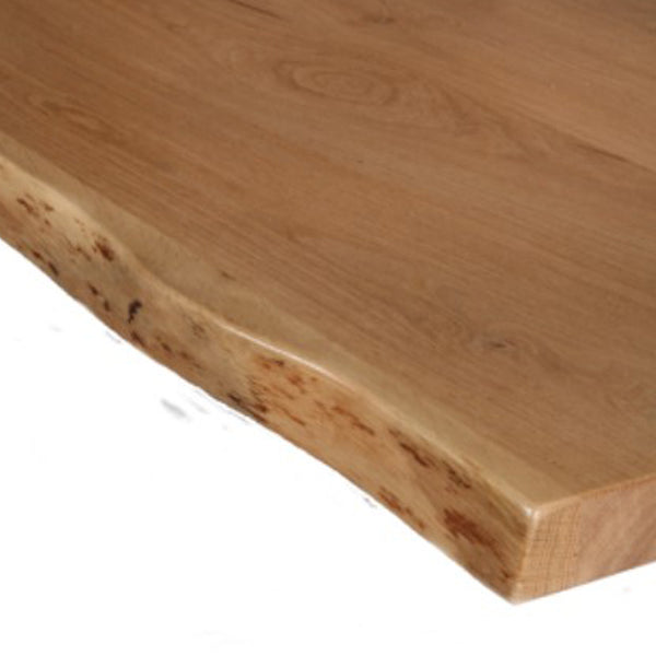 Close up of Oak Table Top Detailed Edge