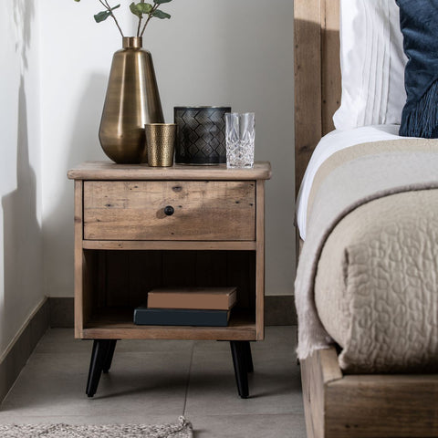 Norfolk Oak 3 Drawer Wide Bedside