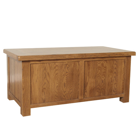 Auvergne Solid Oak Blanket Box - Large
