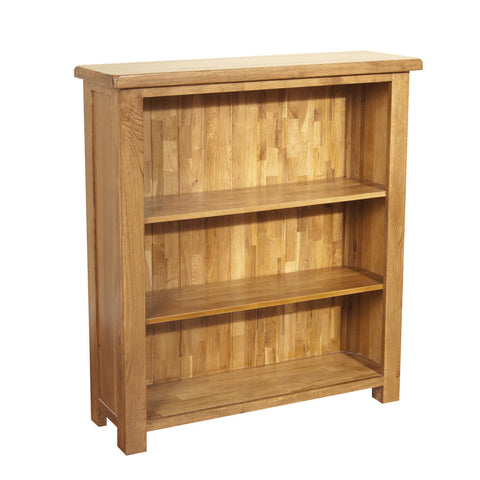 Auvergne Solid Oak Bookcase - Wide (Small) - Better Furniture Norwich & Great Yarmouth