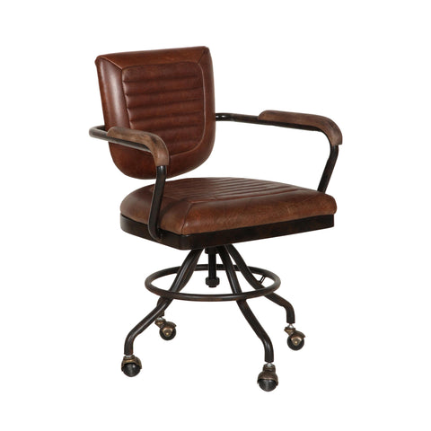 Bromsgrove Office Chair - Brown Leather