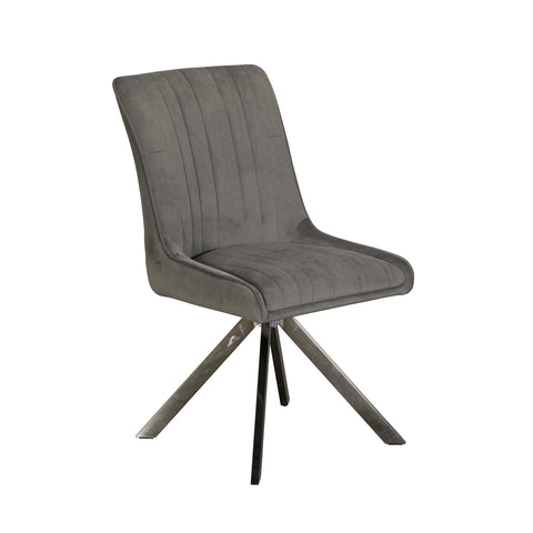 Brooklyn Dining Chair - Grey Velvet