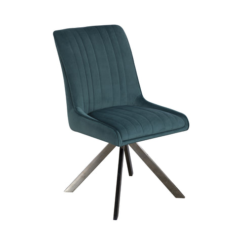 Brooklyn Dining Chair - Teal Velvet
