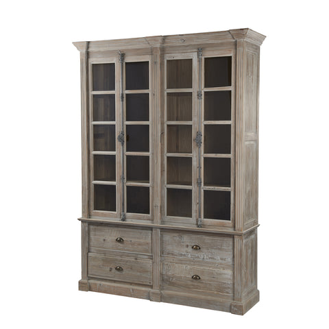 Burnham Reclaimed - 4 Door 4 Drawer Glazed Display Unit
