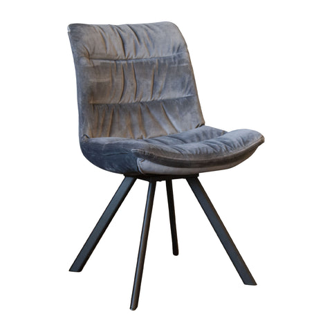 Mellie Dining Chair - Charcoal Grey