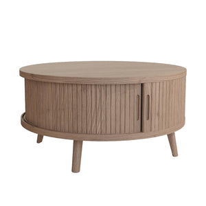Round Grey Washed Coffee Table - Carnaby