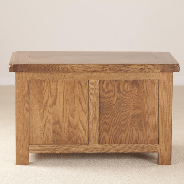 Auvergne Solid Oak Blanket Box - Small - Better Furniture Norwich & Great Yarmouth