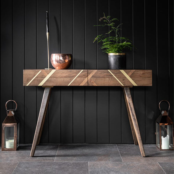 Larsson Chalk Oiled Oak & Grey Console Table