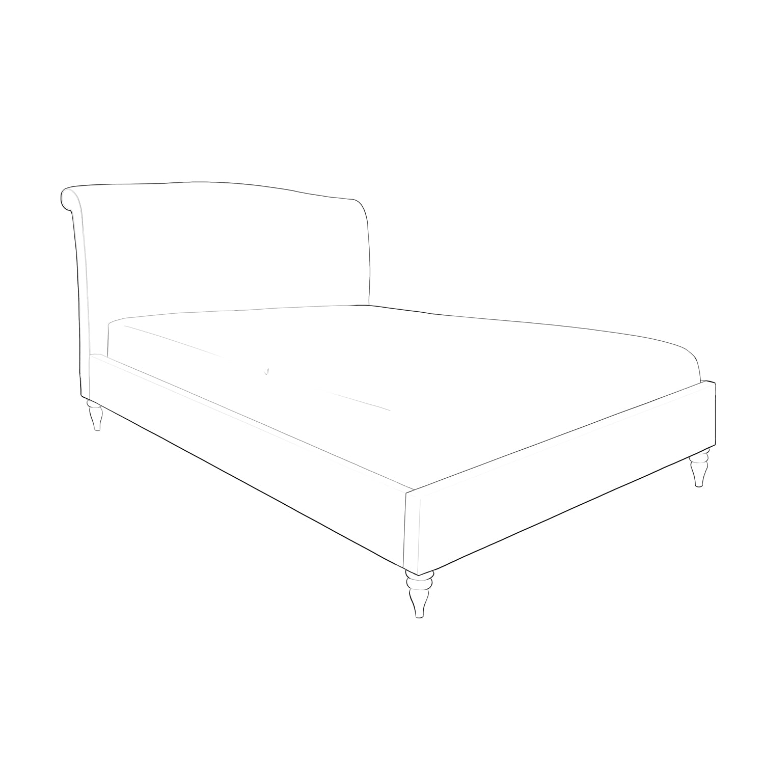 Ziggy Upholstered  Bed frame - Low Footend