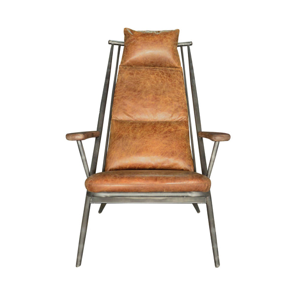 Wyatt Chair - Brown Leather