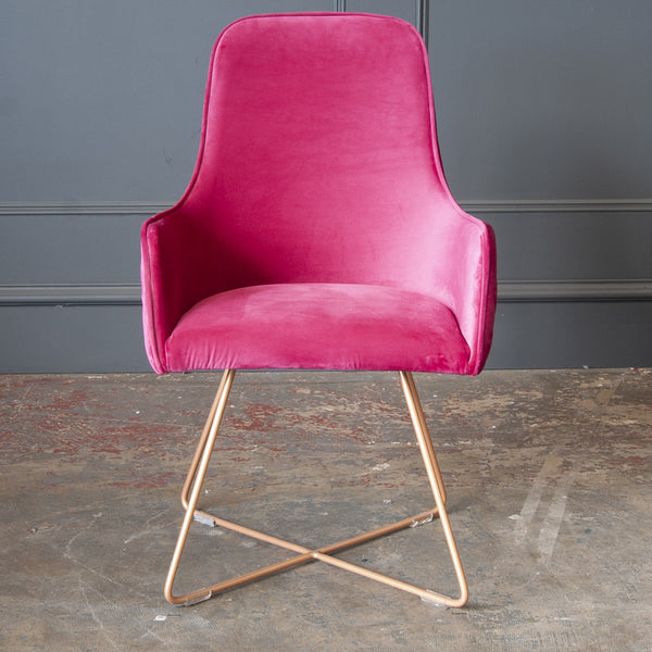 Flint Dining Chair - Cerise