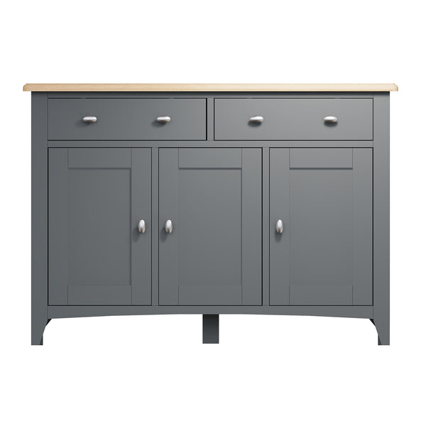 Faro Grey Sideboard - 3 Door 2 Drawer
