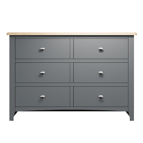 Faro Grey Painted Chest of Drawers - 6 Drawer