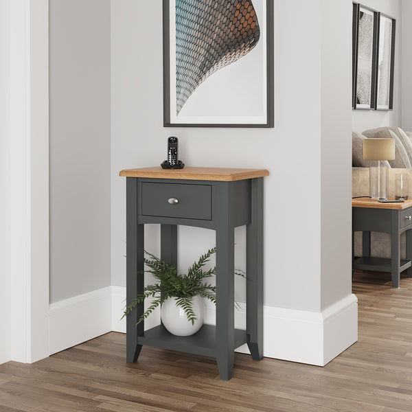 Faro Grey Telephone Table